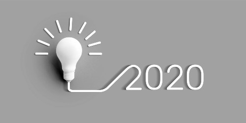 2020 lightbulb sign