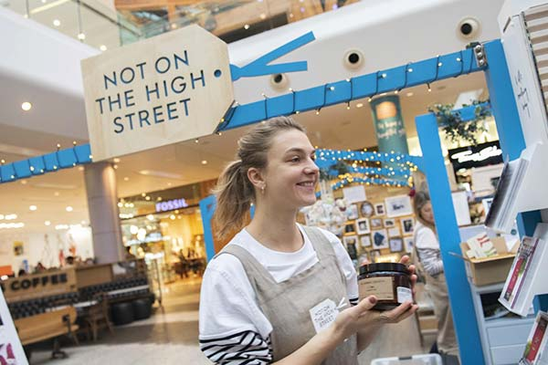 Not On The High Street pop-up store